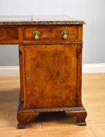 Antique Burr Walnut Partners Desk (11 of 18)