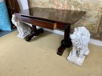 Large 19th Century Rosewood Library Table (5 of 6)