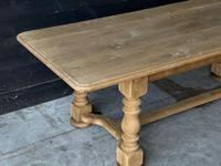 French Bleached Oak Refectory Farmhouse Dining Table (4 of 26)