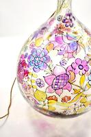 1960s Hand Painted Demi John Lamp with Floral Pattern (7 of 22)