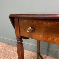 Small Edwardian Inlaid Mahogany Antique Sofa Table (2 of 9)