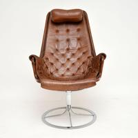 Vintage Leather & Chrome Jetson Chair by Bruno Mathsson for Dux (6 of 11)