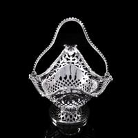 Antique Victorian Small Silver Sweet Basket / Bonbon Dish - Charles Stuart Harris 1890 (6 of 14)