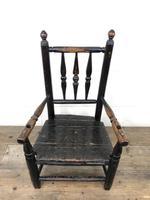 Antique 19th Century Provincial Oak Child's Chair (2 of 8)