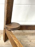 Traditional Style Oak Cricket Table (6 of 10)