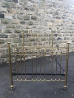 Antique Victorian Brass & Iron Double Bed Frame