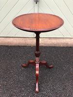 Antique Edwardian Mahogany Tripod Wine Table