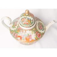 19th Century Cantonese Femille Rose Large Tea Pot (4 of 12)