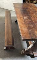 French Farmhouse Dining Table & Benches Set (30 of 33)
