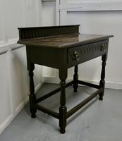 Carved Gothic Oak Side Table (7 of 8)
