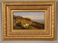 """Oil Painting pair by William Sidney Cooper """"Sheep in a Coastal Landscape"""" (6 of 6)"""