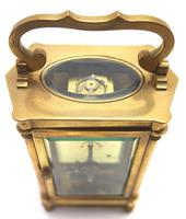 Rare & Unusual Cased Antique French 8-day Timepiece Carriage Clock c.1900 (6 of 10)