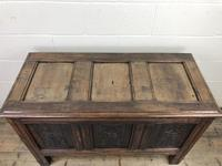 18th Century Carved Oak Coffer (4 of 10)