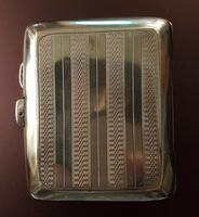 Antique Sterling Silver Cigarette Case - 1932 (2 of 4)
