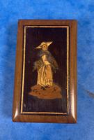 Victorian  Miniature Italian Sorrento Olive Wood Snuff Box (2 of 12)