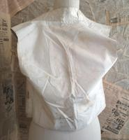 Antique Victorian Ivory Colour Silk Waistcoat (8 of 12)