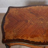 Serpentine Writing Table Louis XVI Style Inlaid Kingwood (18 of 19)