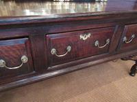 George II Period Oak Three Drawer Dresser (11 of 14)