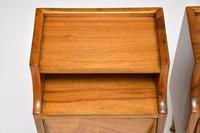 1960's Pair of Vintage Italian Walnut Bedside Cabinets (9 of 10)
