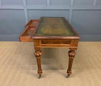 Very Good Victorian Burr Walnut Writing Table (14 of 16)
