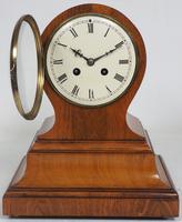 Impressive Solid Walnut Drum Head Striking Mantel Clock PHS Mantle Clock (2 of 12)