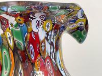 2 Beautiful Italian Murano Fratelli & Torso Millefiori Glass Vases (34 of 34)