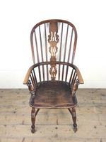 Antique Ash & Elm Windsor Armchair (2 of 11)