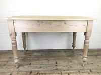 Antique Pine Two Drawer Farmhouse Kitchen Table (M-1340) (9 of 9)