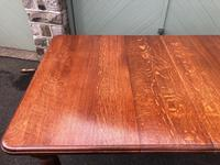 Antique Golden Oak Wind Out Extending Dining Table (7 of 11)