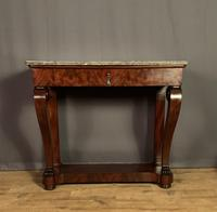 French Louis Philippe Period Mahogany Console Table (10 of 12)
