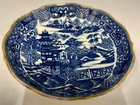 Antique Caughley Porcelain Deep Saucer c.1795 (2 of 6)