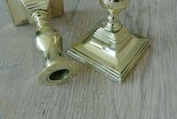 Pair of 17th Century Style Brass Candlesticks Dated 1656 W Soutter c.1910 (8 of 8)