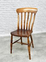 Set of 4 Lath Back Kitchen Chairs (5 of 5)