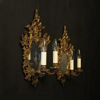 French Pair of Gilded Antique Girandoles (10 of 10)