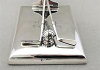 Superb Silver Golfing Interest Desk Clip / Paperweight (6 of 6)