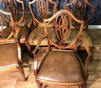 Quality Set of Eight Mahogany Dining Chairs (17 of 18)