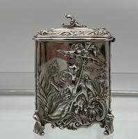 Antique Victorian Sterling Silver Tea Caddy London 1894 George Fox (12 of 12)