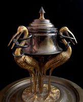 Antique French Inkwell, Storks & Snakes (3 of 12)