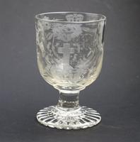 Exceptional, Fine & Rare Regency Oddfellows / Masonic Glass Rummer c.1814 (8 of 11)