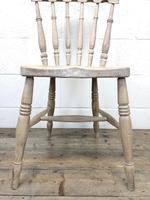Set of Four Antique Spindle Back Kitchen Chairs (6 of 9)