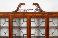 Georgian Style Mahogany Breakfront Bookcase c.1920 (3 of 12)