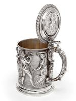 Ornate Victorian Electro Formed Silver Plated Lidded Tankard with Figural Scenes of Musicians (4 of 13)