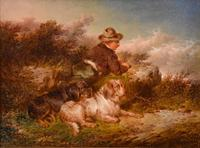 """Oil Painting by Paul Jones """"The Young Gamekeeper"""" (3 of 4)"""