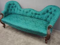 Victorian Mahogany Double Ended Sofa (7 of 9)
