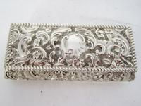 Late Victorian Rectangular Silver Jewellery or Trinket Box (4 of 6)