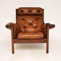 1960's Vintage Guy Rogers Leather Armchair (2 of 9)