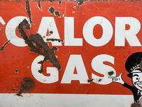 Vintage Original English 1950's Enamel Advertising Sign Calor Gas Stockist (16 of 22)