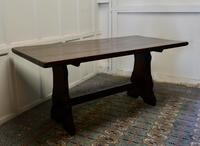 Large Country Oak Refectory Table (2 of 5)