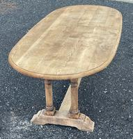 French Bleached Oak Farmhouse Refectory Dining Table (16 of 18)