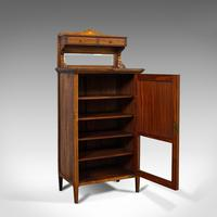Antique Music Cabinet, English, Rosewood, Side, Hall Stand, Edwardian c.1910 (9 of 12)